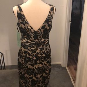 Jones Wear Dresses - Black and Tan. Lace LOOK! Cocktail dress.